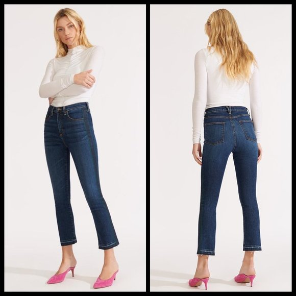 VERONICA BEARD Carly High Rise Kick Flare Jean Tux